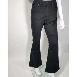 Banana Republic High Rise Flare Black Jeans
